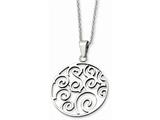 Chisel Stainless Steel Polished Fancy Swirl Pendant Necklace style: SRN64322