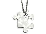 Chisel Stainless Steel Polished Puzzle Piece Pendant Necklace style: SRN64922