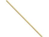Chisel Stainless Steel Ip Gold-plated 1.5mm 18in Box Chain Necklace style: SRN662GP18