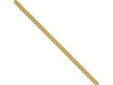 Chisel Stainless Steel Ip Gold-plated 2.25mm 18in Round Curb Chain style: SRN685GP18