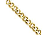 Chisel Stainless Steel Ip Gold-plated 7.5mm 8in Curb Chain style: SRN690GP8