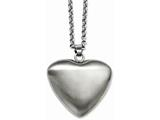 Chisel Stainless Steel Matte Finish Heart Pendant Necklace style: SRN71524