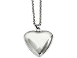 Chisel Stainless Steel Polished Puffed Heart Pendant Necklace style: SRN71624