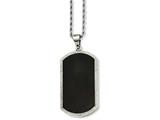 Chisel Stainless Steel Black-plated Laser Cut Dog Tag  Necklace style: SRN72724