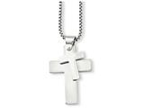 Chisel Stainless Steel Polished Crosses Pendant Necklace style: SRN76124