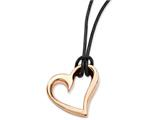 Chisel Stainless Steel Pink Ip-plated Heart Necklace style: SRN76620
