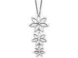 Chisel Stainless Steel Polished Flowers Necklace style: SRN78218