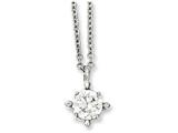 Chisel Stainless Steel Clear Cz Pendant 18in Necklace style: SRN78418
