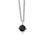 Chisel Stainless Steel Black Cz Pendant Necklace style: SRN78518