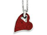 Chisel Stainless Steel Red Crystal Heart Pendant Necklace style: SRN78720