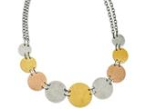 Chisel Stainless Steel Tri-color Ip-plated Discs 20in Necklace style: SRN82220