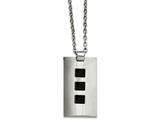 Chisel Stainless Steel Ip Black-plated Accents 24in Necklace style: SRN83124