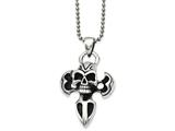 Chisel Stainless Steel Antiqued Dagger W/ Skull Pendant Necklace style: SRN84824