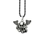 Chisel Stainless Steel Antiqued Skulls Necklace style: SRN84924