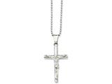 Chisel Stainless Steel Polished Crucifix Pendant Necklace style: SRN85622