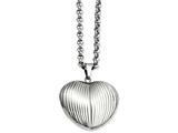 Chisel Stainless Steel Puffed Heart Pendant Necklace style: SRN88824