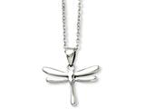 Chisel Stainless Steel Polished Dragonfly Pendant Necklace style: SRN89520