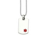 Chisel Stainless Steel Small Dog Tag Medical Pendant Necklace style: SRN90024