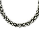Chisel Stainless Steel Oval Link 22in Necklace style: SRN94822