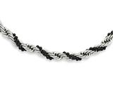 Chisel Stainless Steel Black Ip-plated Ball and Rope Twisted 18in Necklace style: SRN95018