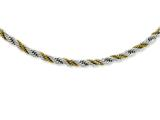 Chisel Stainless Steel Yellow Ip-plated Box and Rope Twisted 18in Necklace style: SRN95318