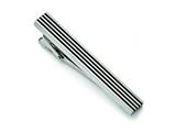 Chisel Stainless Steel Brushed Black Rubber Tie Bar style: SRT111