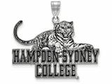 LogoArt Sterling Silver Hampden Sydney College Xl Enamel Pendant - Chain Included style: SS003HSC