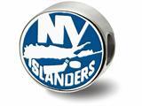 LogoArt Sterling Silver New York Islanders Ny Islanders On Puck Enameled Logo Bead Charm style: SS500ISL