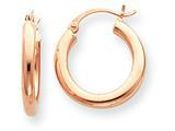 14k Rose Gold 3mm Hoop Earrings style: T1004