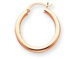 14k Rose Gold 3mm Hoop Earrings style: T1005