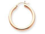 14k Rose Gold 3mm Hoop Earrings style: T1006
