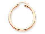 14k Rose Gold 3mm Hoop Earrings style: T1007