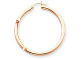 14k Rose Gold 3mm Hoop Earrings style: T1009