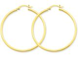 14k 2mm Square Tube Hoop Earrings style: T1072