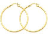 14k 2mm Square Tube Hoop Earrings style: T1072