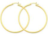 14k 2mm Square Tube Hoop Earrings style: T1073