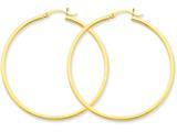 14k 2mm Square Tube Hoop Earrings style: T1073