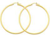 14k 2mm Square Tube Hoop Earrings style: T1074