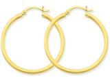 14k 2mm Square Tube Hoop Earrings style: T1075