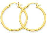 14k 2mm Square Tube Hoop Earrings style: T1076