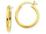 14k 2mm Square Tube Hoop Earrings style: T1078