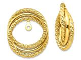 14k Polished and Twisted Fancy Earring Jackets style: T585J