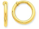 14k Non-pierced Hoop Earrings style: T808