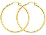 14k Polished 2mm Round Hoop Earrings style: T920