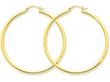 14k Polished 2.5mm Round Hoop Earrings style: T927