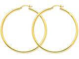 14k Polished 2.5mm Round Hoop Earrings style: T928