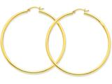 14k Polished 2.5mm Round Hoop Earrings style: T929