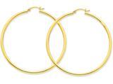 14k Polished 2.5mm Round Hoop Earrings style: T929