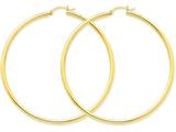 14k Polished 2.5mm Round Hoop Earrings style: T930