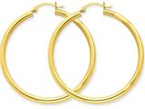 14k Polished 3mm Round Hoop Earrings style: T942